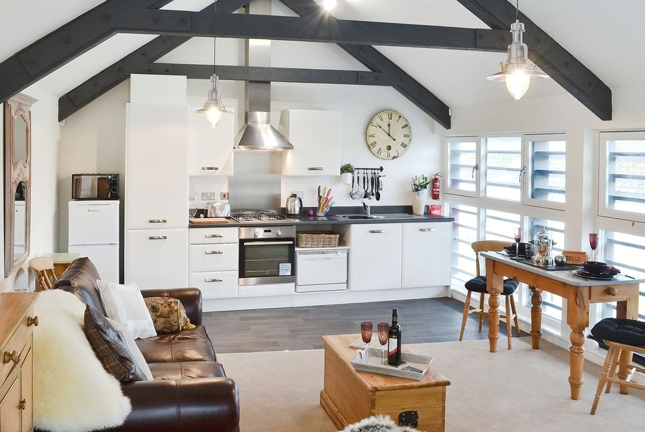 The Tannery Loft Open plan living/dining room/kitchen | The Tannery Loft, Grampound, nr. Truro
