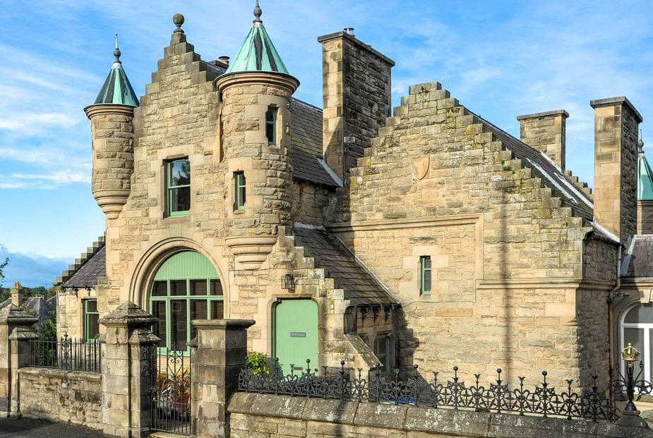 The Five Turrets Grade B listed, Scottish Baronial-style townhouse | The Five Turrets, Selkirk