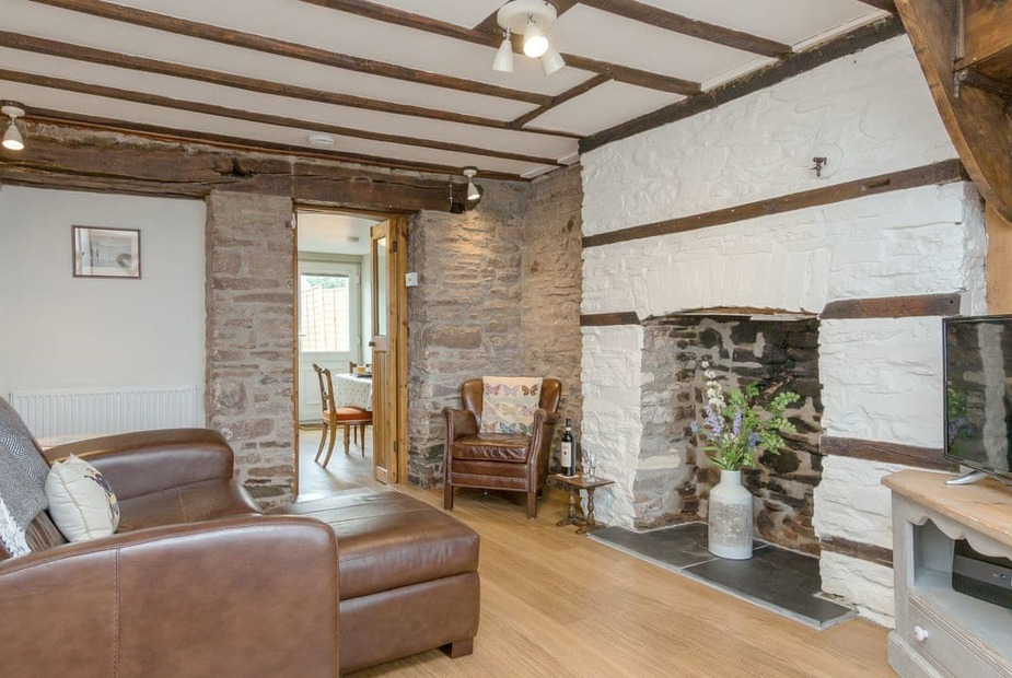Charles's Cottage Charming and characterful living room | Charles' Cottage, Brecon