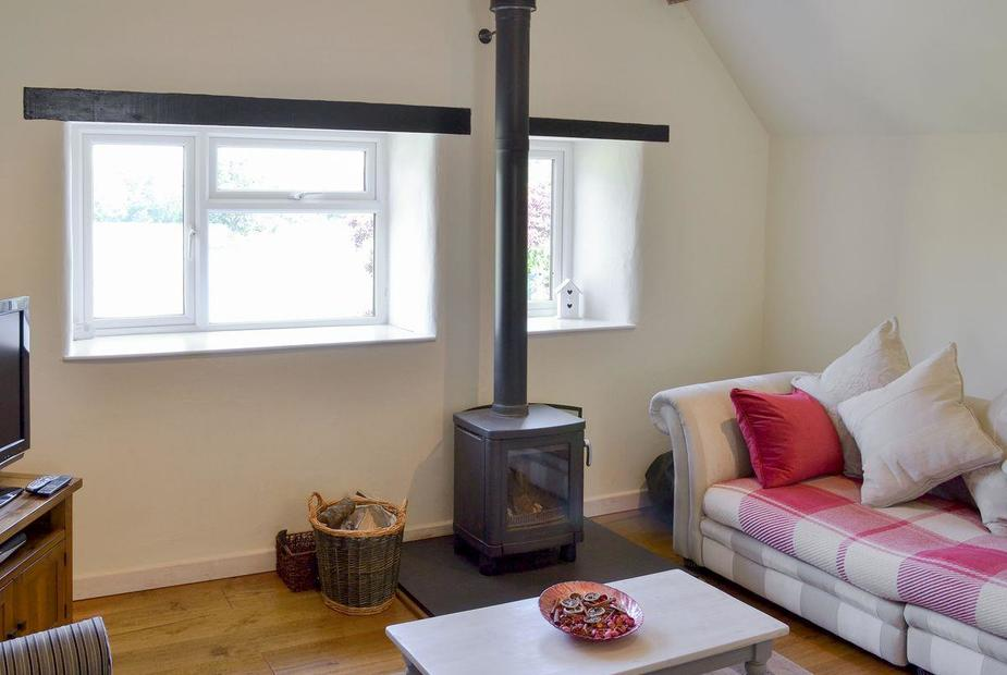 Barnfield Cottage Delight and cosy living area | Barnfield Cottage, Bridford, near Dunsford