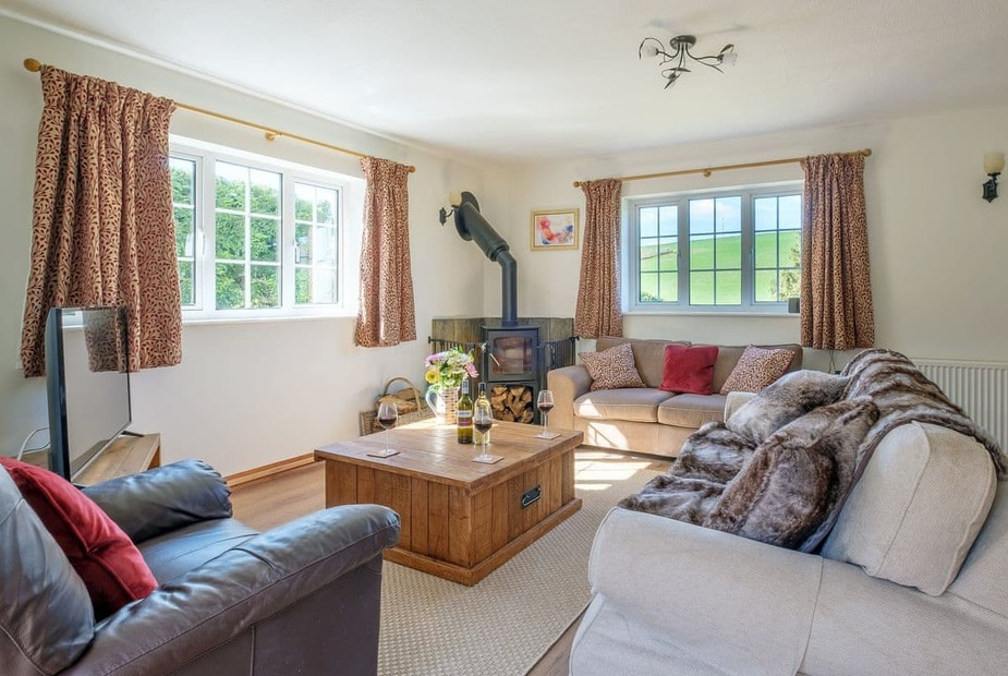 Rowborough Cottage, Shorwell Delightful living room with wood burner | Rowborough Cottage, Bowcombe, near Shorwell