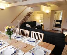 Snaptrip - Last minute cottages - Charming St Ives Carbis Bay Lelant Cottage S43945 - Lounge/diner in holiday let Lelant