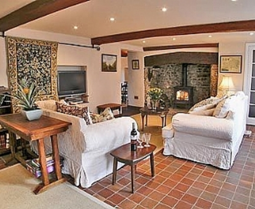 Listed Thatched Cottage In Burton Bradstock Sitting room