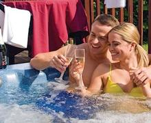 Snaptrip - Last minute cottages - Exquisite Dollar Lodge S57288 - Similar to the new hot tub and lodges at Dollar Riverside Lodges