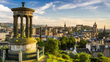 A view of Edinburgh, where you can take a drive and find 5 inspiring UK destinations within 2 hours of Edinburgh