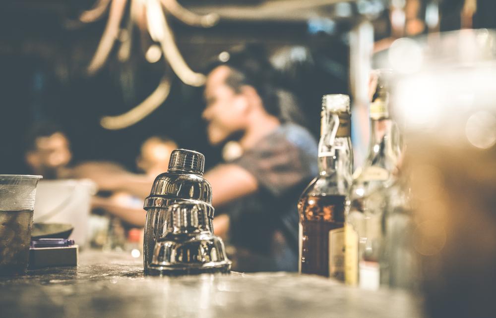 Speakeasy bar date for two