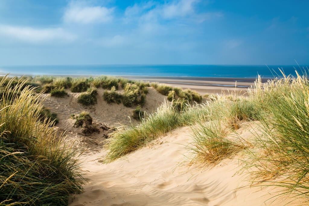 The beauty scenery of a sand dune in of the the best beaches in Scotland