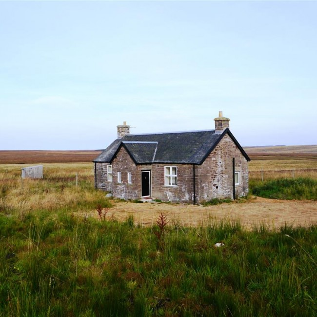 Remote stone cottage in the Scottish Highlands