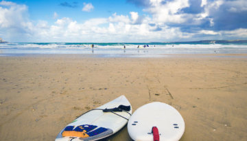 Surfing, one of the many outdoor activities for adults UK