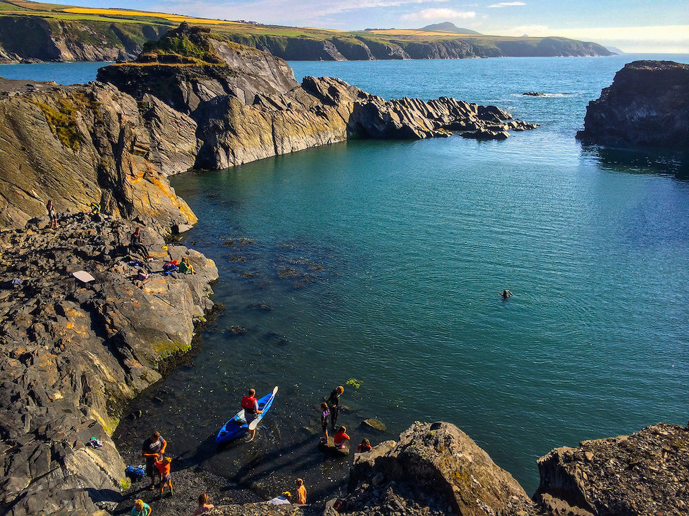 Cliff Jumping in Abereiddy Bay