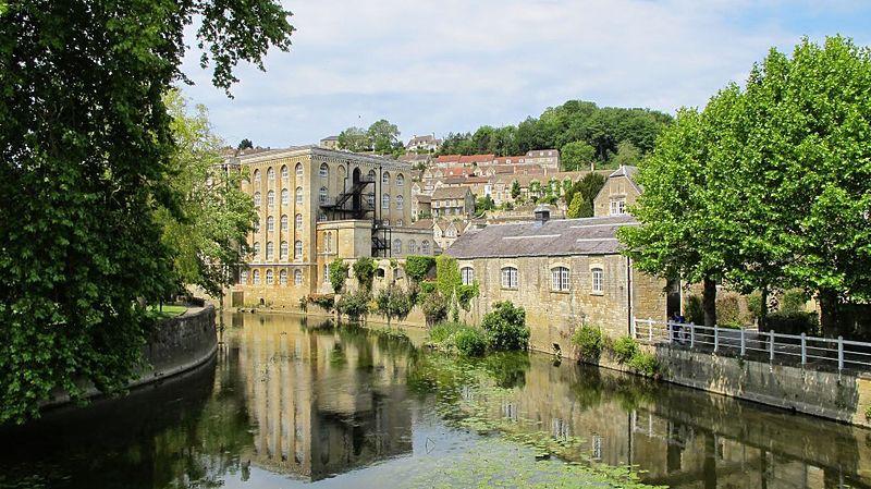 Beside the river in Bradford-on-Avon