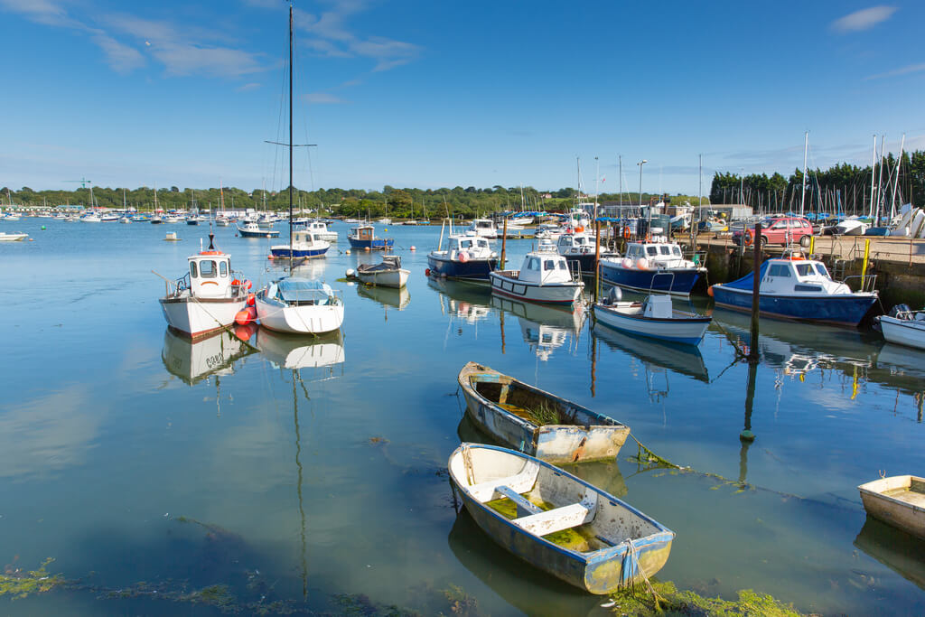 A view of the the seaside charm in Bembridge
