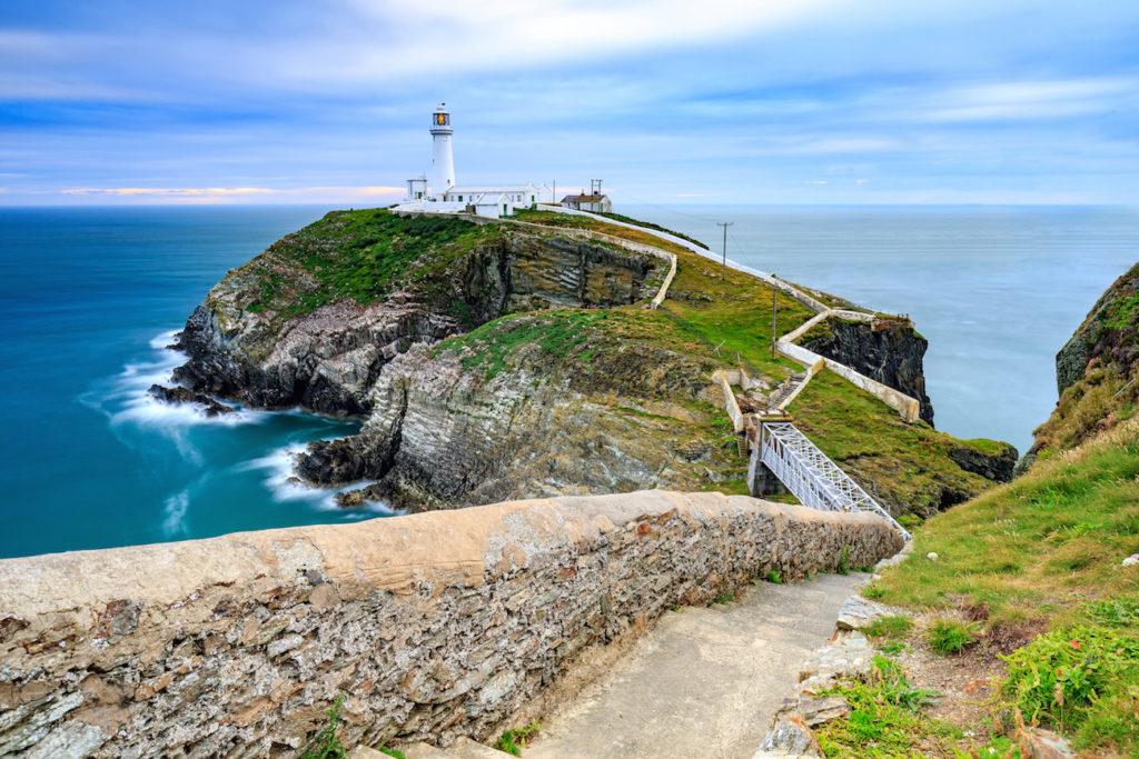 A lighthouse near Holyhead, Wales