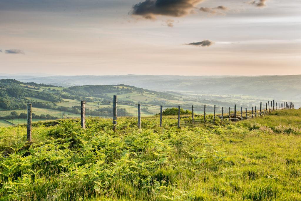 Views from Cusop Hill near Hay-on-Wye, Wales