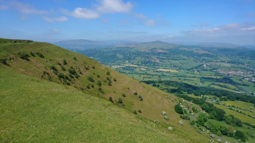 The countryside surrounding Abergavenny, Wales