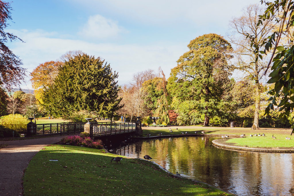 A park in Buxton, Derbyshire