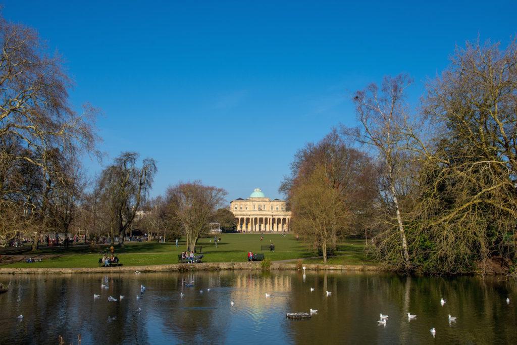 Pitville Park in Cheltenham, Gloucestershire