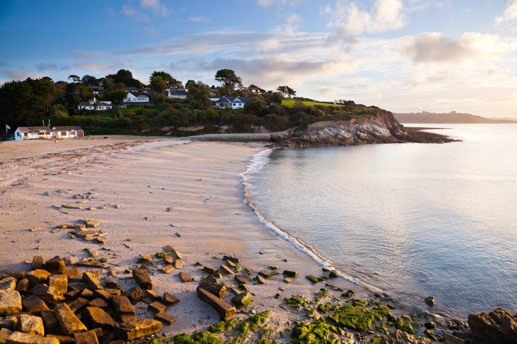 A sandy beach near Falmouth, Cornwall