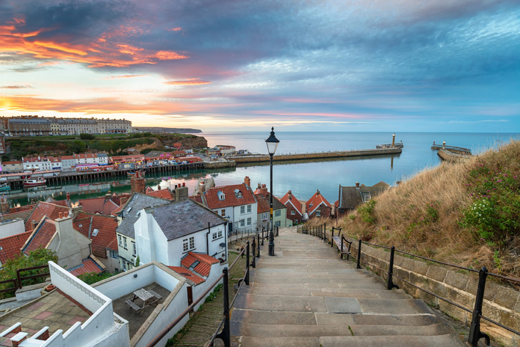 Sunset over Whitby, Yorkshire