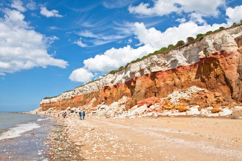 Cliffs and a beach at Hunstanton, Norfolk