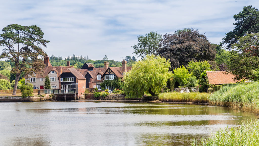 A view of Beaulieu in the New Forest