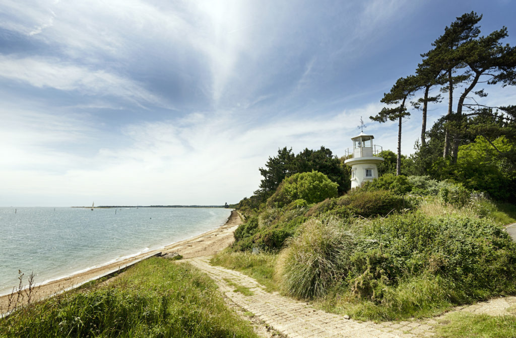 The beach at Lepe in the new Forest