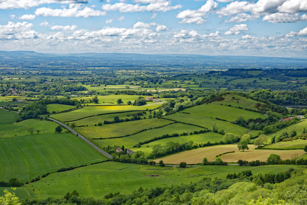 View over the countryside near Thirsk, Yorkshire
