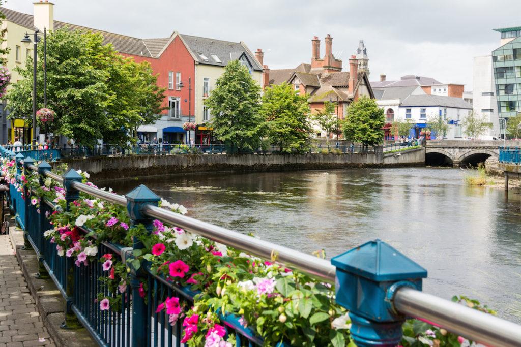 Riverside view of Sligo, Ireland