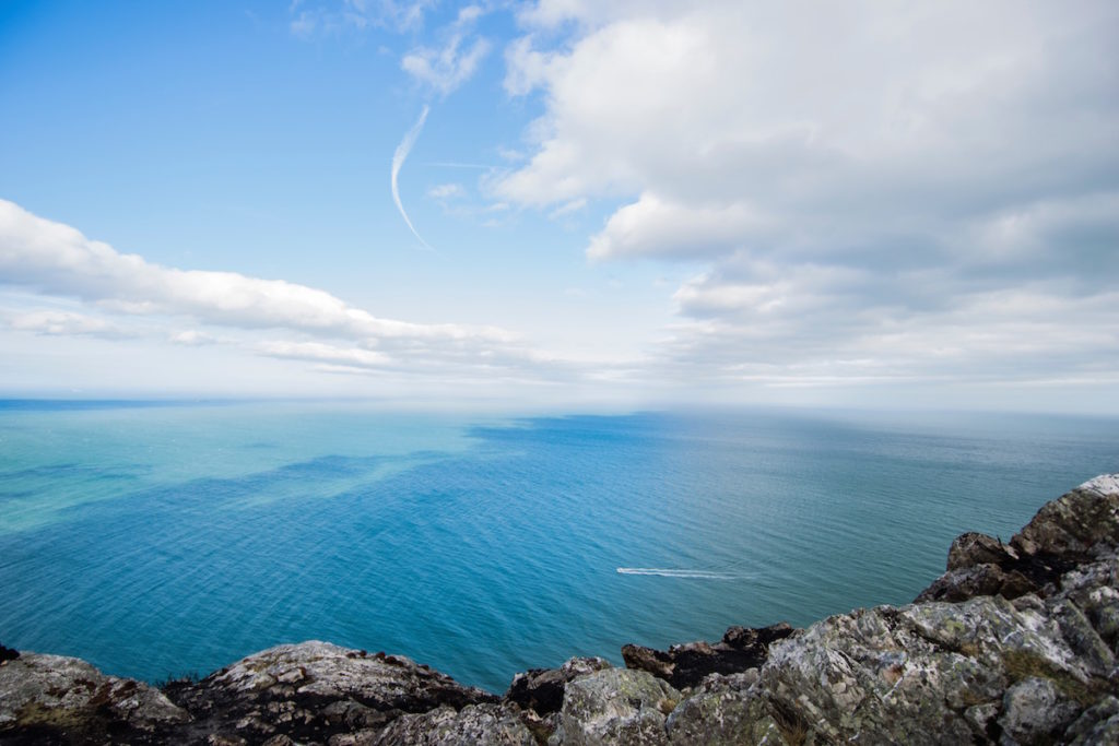 A view over the sea from Bray, Ireland