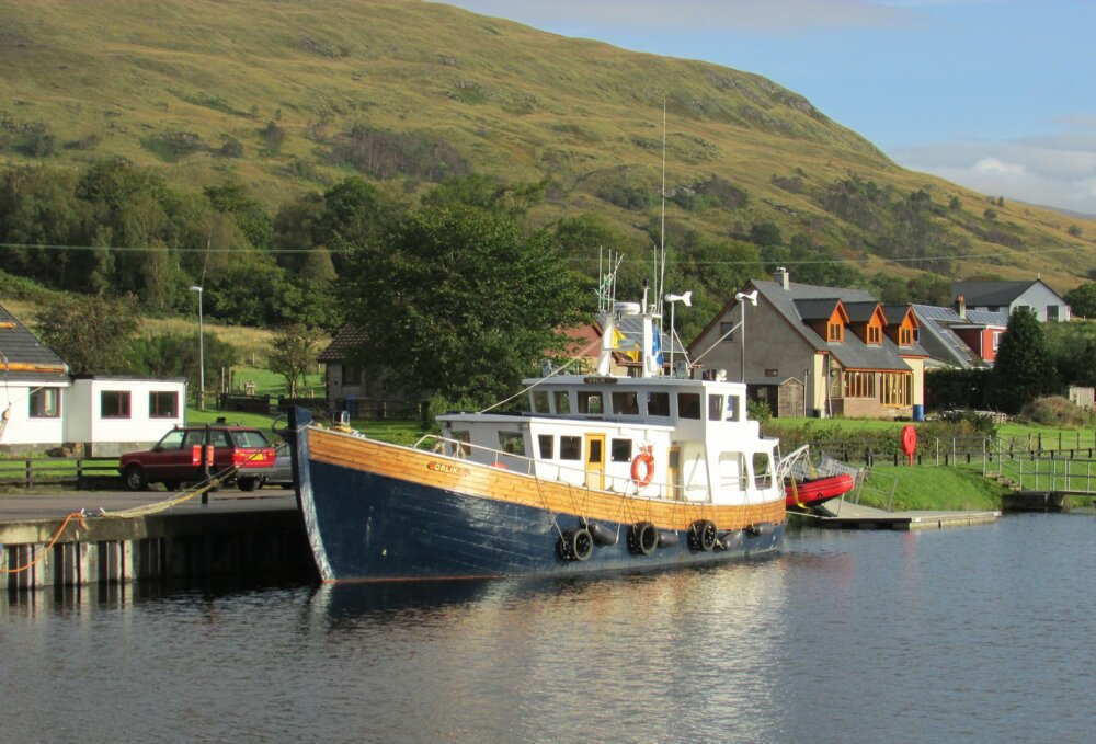 A large boat in Fort William