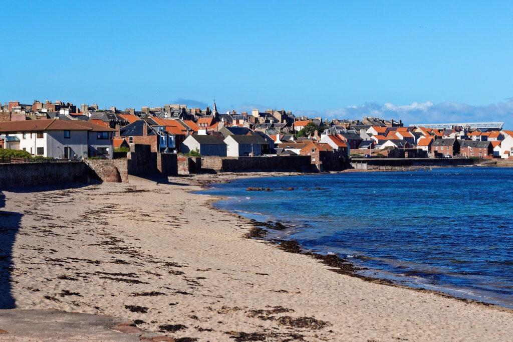 A beach in Dunbar, Scotland