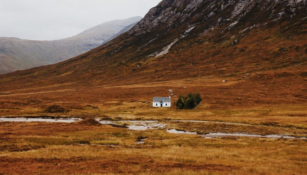 Remote cottage in Scotland