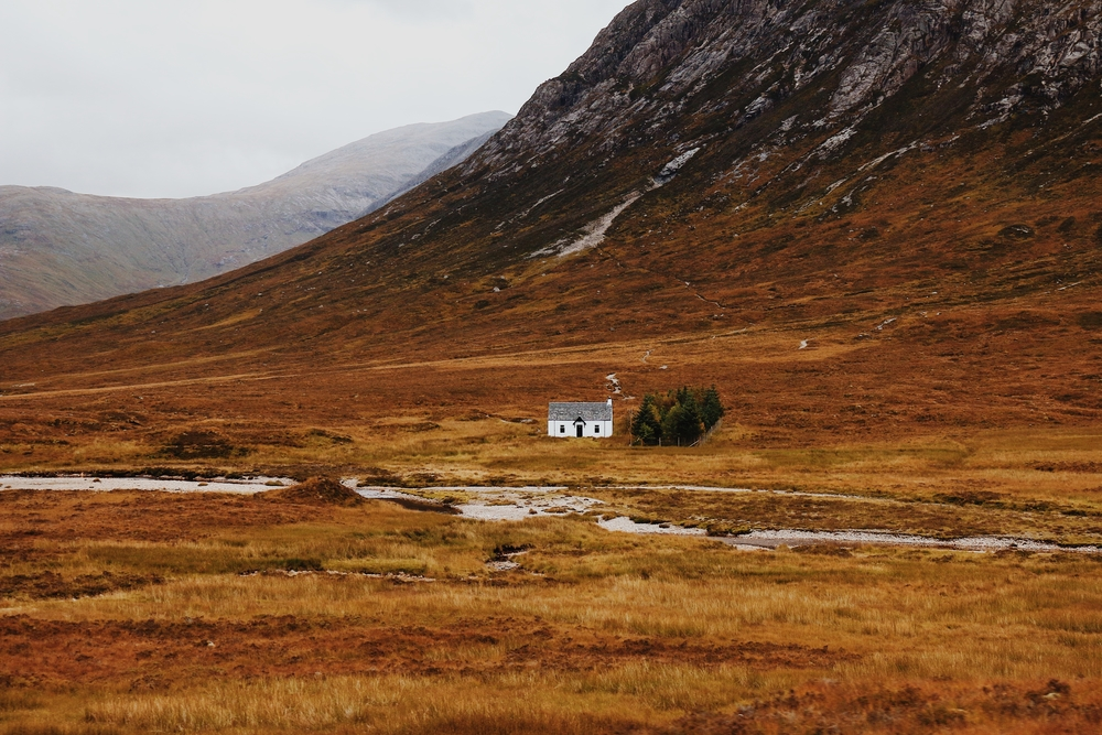 Remote cottage in Scotland
