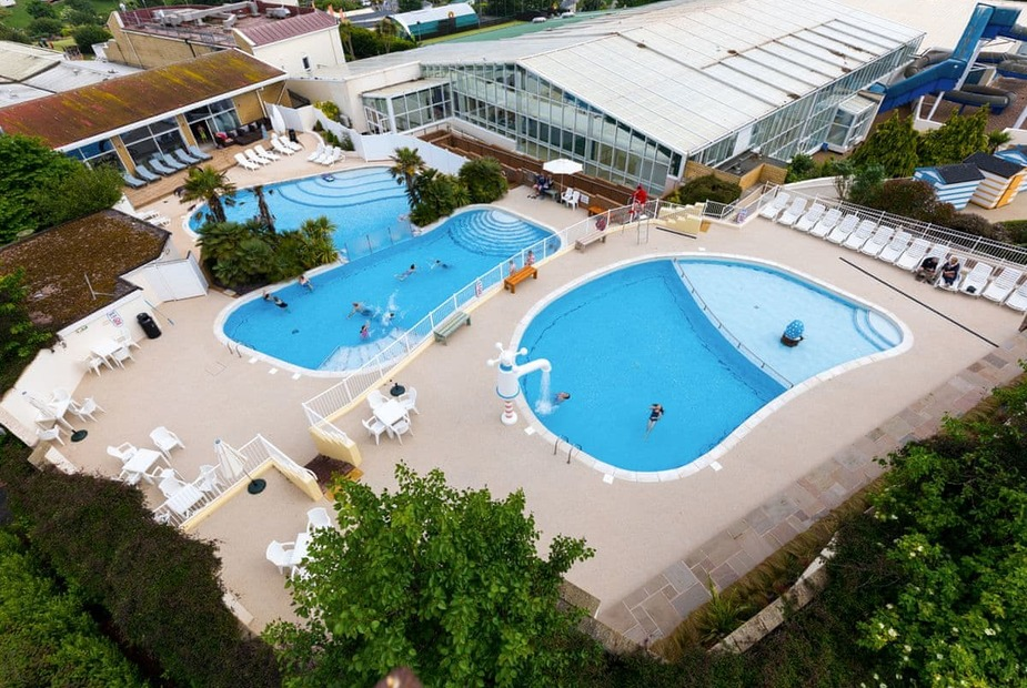 The amazing pools of Devon Cliffs Holiday Park