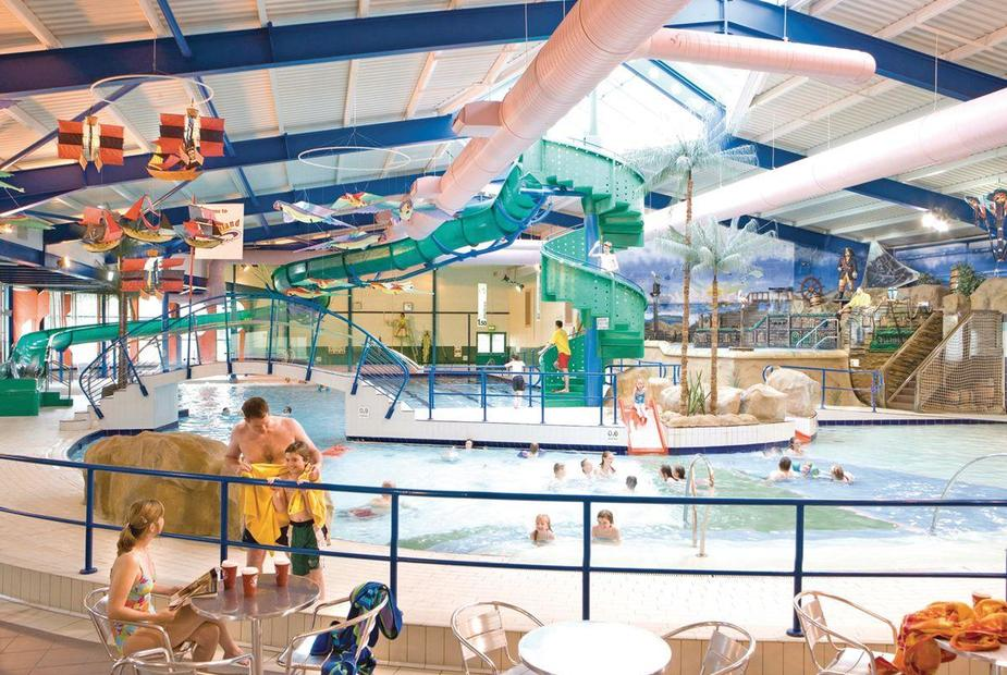 The great indoor pool at Trecco Bay Holiday Park