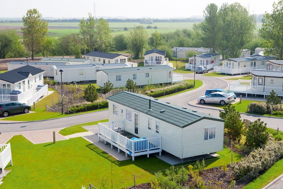 The beautiful scenery of Marton Mere Holiday Village