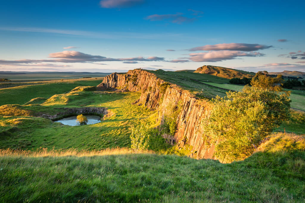 The beautiful views you'll experience once getting to Northumberland National Park