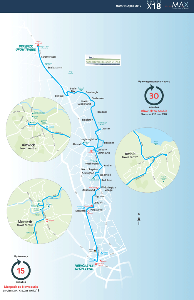 Map to get around the national park sustainably