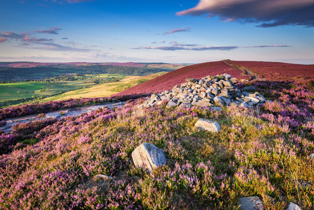 The stunning coloured rolling hills in Northumberland National Park