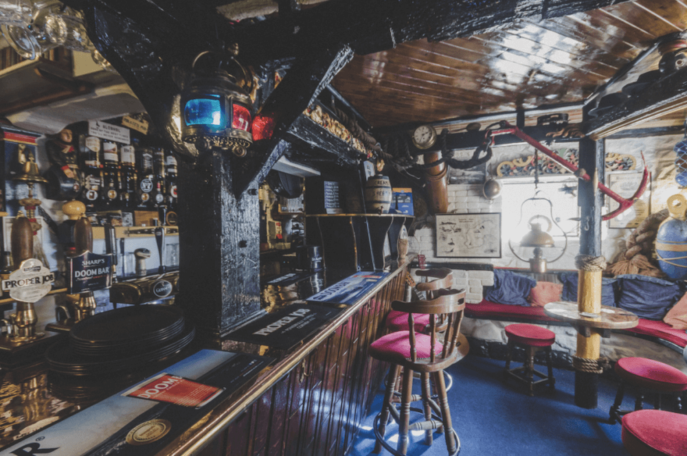 Admiral Benbow, one of the best winter cosy pubs