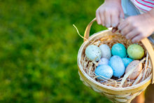 Easter egg hunt, one of the best Easter staycation ideas