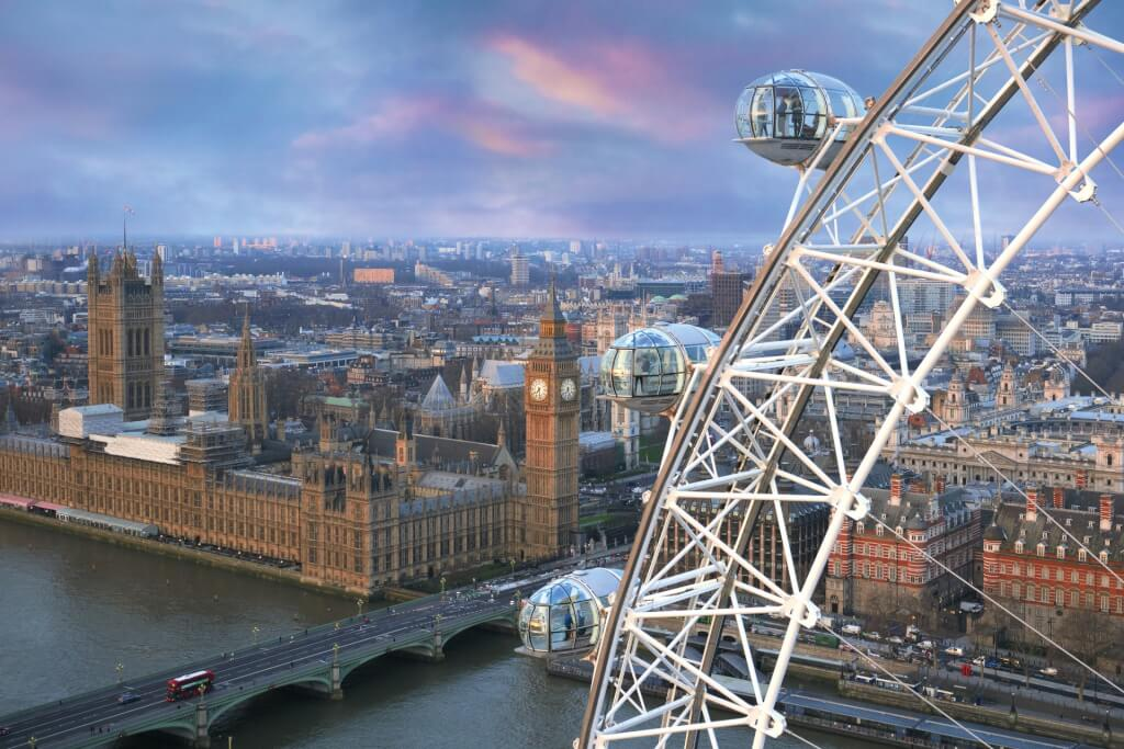 London Eye, one of the most instagrammable places in the UK