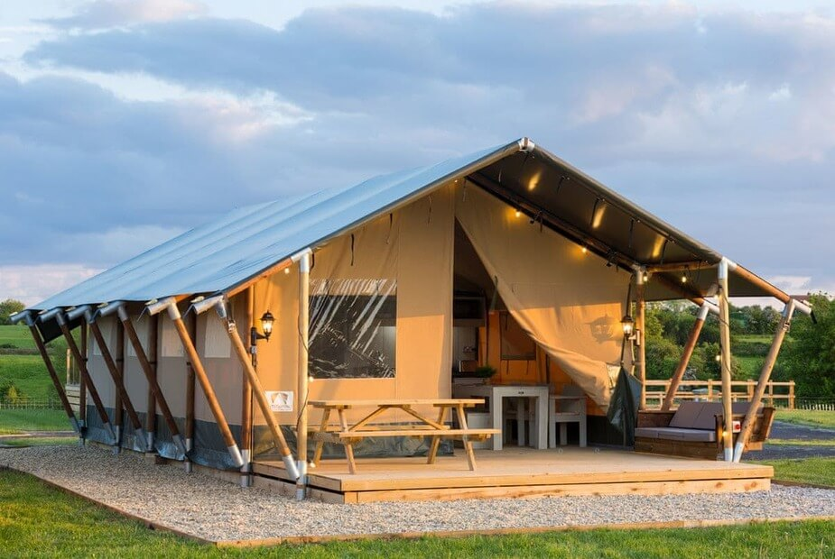 Leopard Safari Tent, one of the best unusual family holidays in the UK