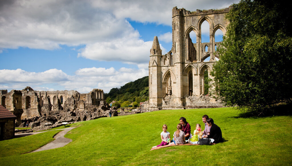 Family at Rievaulx Abbey - Photo by Chris J Parker