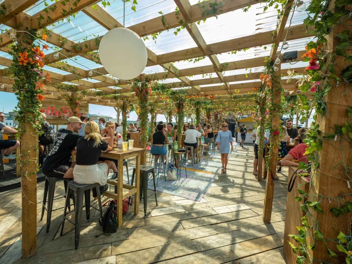 Bussey Rooftop Bar, one of the best outdoor bars in London