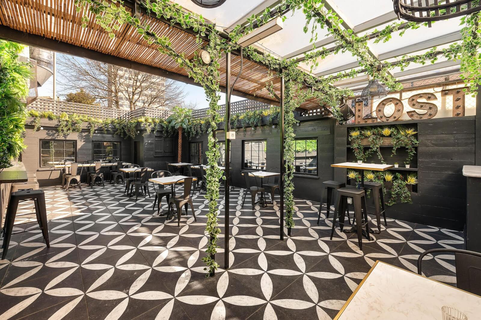 Lost Society, one of the best outdoor bars in London