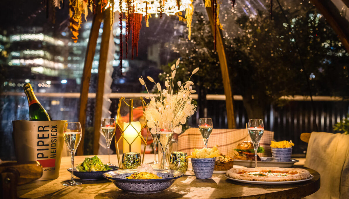 Coppa Club, one of the best outdoor restaurants in London